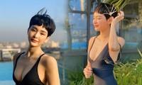 Sau nghi vấn hẹn hò Quang Hải, Hiền Hồ gây 'bão' vì bộ ảnh bikini rực lửa