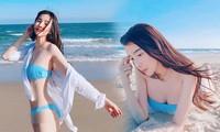 Cao Thái Hà khoe vòng 1 nóng bỏng với bikini sau ồn ào hút thuốc lá