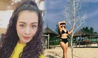 Ảnh bikini hiếm của cựu siêu mẫu Thúy Hằng sau 5 năm 'không dám' diện đồ hở