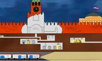 Bản vẽ phác thảo lòng đất bên dưới Điện Kremlin. Ảnh: RBTH