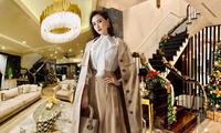 Ngây ngất ngắm biệt thự sang trọng tràn ngập không khí Giáng sinh của Lã Thanh Huyền