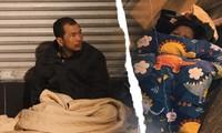 Cảnh 'màn trời chiếu đất' của người vô gia cư trong đêm giá rét Hà Thành