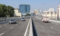 Đường cao tốc Vành đai 4 được thiết kế cầu cạn tương tự như đường trên cao nội đô Hà Nội. Ảnh: T.Đảng