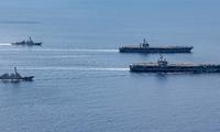 Hải quân Mỹ gần đây thường xuyên tuần tra tự do hàng hải trên Biển Đông Ảnh: US Navy