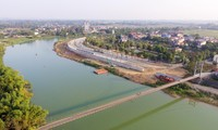 Ảnh minh hoạ: Dự án Xây dựng cấp bách hệ thống chống lũ lụt sông Cầu kết hợp hoàn thiện hạ tầng đô thị hai bên bờ sông Cầu ở Thái Nguyên