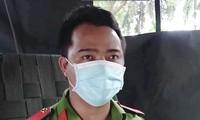 """Anh Nguyễn Văn Tĩnh (Trường ĐH Cảnh sát nhân dân) trở thành """"bà đỡ"""" bất đắc dĩ khi đang trực chốt kiểm soát dịch COVID-19"""