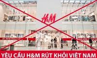 Bức ảnh được người dùng Twitter Việt Nam chia sẻ để kêu gọi tẩy chay H&M. Ảnh: Twitter