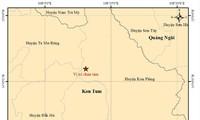 Tâm chấn trận động đất mới nhất xảy ra tại huyện Kon Plông, Kon Tum