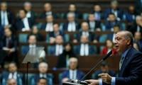 Tổng thống Thổ Nhĩ Kỳ Erdogan phát biểu trước Quốc hội ngày 23/10 Ảnh: Reuters