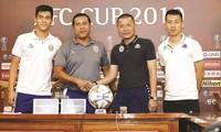 Đại diện 2 CLB Hà Nội và B.Bình Dương đều thể hiện quyết tâm giành chiến thắng trước trận lượt về Ảnh: VSI