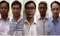 Cơ quan CSĐT ( Bộ Công an) vừa hoàn tất kết luận điều tra truy cứu 5 bị can: Tín, Kiệt, Thanh, Chương, Út. (từ trái sang) Ảnh: Cổng TTĐT Bộ CA