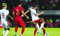 Văn Hậu mới chỉ chơi ở mức tròn vai trong màu áo đội tuyển Việt Nam kể từ khi khoác áo CLB Heereveen nhưng chưa được ra sân phút nào Ảnh: TUẤN MINH