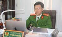 Đại úy Ngô Anh Tuấn, Phó trưởng Công an huyện Nghĩa Đàn (Nghệ An). Ảnh: C.H