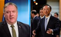 Ngoại trưởng Mỹ Mike Pompeo (trái) và ông Dương Khiết Trì Ảnh: Reuters