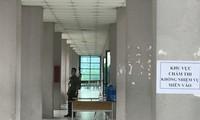 Khu vực chấm thi được bảo vệ cẩn mật Ảnh: Mỹ Hà