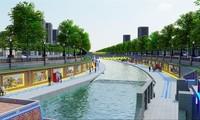Phối cảnh sông Tô Lịch sau cải tạo theo đề xuất của Cty JVE