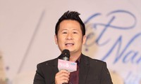Bằng Kiều phát biểu tại họp báo Bán kết Hoa hậu Việt Nam 2020 Ảnh: Như Ý