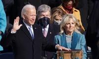 Ông Biden tuyên thệ nhậm chức. Ảnh: Getty