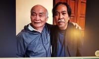 Nhà văn Trần Hiệp ( trái) và nhà thơ Nguyễn Quang Thiều