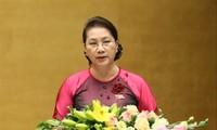 Chủ tịch Quốc hội phát biểu khai mạc kỳ họp thứ 8, Quốc hội khóa XIV. Ảnh: Như Ý