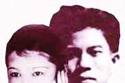 Vợ chồng Nguyễn Bính trước khi ông tập kết ra Bắc (1954) để vợ lại miền Nam