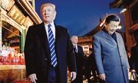 Tổng thống Mỹ Donald Trump và Chủ tịch Trung Quốc Tập Cận Bình ở Bắc Kinh hồi tháng 11/2017 Ảnh: Getty Images