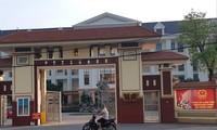 Trụ sở UBND huyện Vĩnh Tường nơi Đoàn thanh tra bị lập biên bản ảnh: Minh Đức