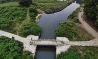 Kênh dẫn nước hở từ sông Đà vào hồ Đầm Bài - nguồn nước trực tiếp đổ vào nhà máy nước của Viwasupco