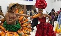 """Váy độc đáo của H'Hen Nie đột nhiên được lăng xêtrở lại trong trào lưu tung hô bánh mì Việt sau sự cố """"hai chục du khách Hàn ở Đà Nẵng"""""""