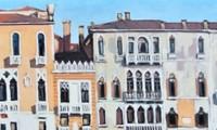 """Tác phẩm """"Buổi sáng ở Venice"""", tranh sơn dầu, 80x135cm"""