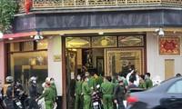 """Công an huy động một lực lượng lớn trong vụ bắt giữ Nguyễn Thị Dương (vợ Đường """"Nhuệ"""") cùng đồng phạm cố ý gây thương tích. ảnh: PV"""