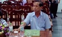 Ông Phan Chí Lộc trong buổi nghe VKSND tỉnh Quảng Trị xin lỗi công khai nạn nhân oan sai (năm 2017). Ảnh: PXD