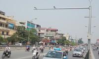 Hệ thống camera giám sát giao thông trên đường phố Hà Nội ảnh: Trọng Đảng