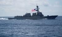 Tàu chiến Mỹ trong một lần tiến vào biển Đông ảnh: US Navy