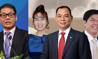 Các tỷ phú giàu nhất sàn chứng khoán Việt Nam.