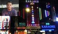 Chủ quán karaoke Phúc XO bị công an tạm giữ để điều tra về hành vi tổ chức sử dụng trái phép chất ma túy cho khách ảnh: V.M