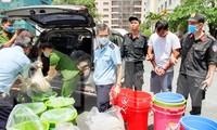 Lực lượng chức năng Việt Nam kiểm tra lô ma túy katamine thu giữ hồi đầu tháng 5/2019 Ảnh: Văn Minh