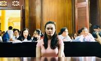 """""""Hot girl"""" Ngọc Miu trong lần hầu tòa trước đây Ảnh: Tân Châu"""
