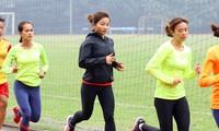 Vận động viên Nguyễn Thị Oanh (giữa) luyện tập cùng đồng đội hướng đến mục tiêu tranh tài tại Olympic Tokyo 2020 Ảnh: Như Ý