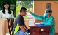 Bác sĩ Trần Thị Quỳnh Trang làm nhiệm vụ trong khu cách ly Ảnh: NVCC