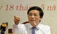 Tổng Thư ký Quốc hội Nguyễn Hạnh Phúc tại buổi họp báoẢnh: Như Ý