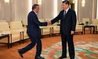 Tổng giám đốc WHO Tedros Adhanom Ghebreyesus gặp Chủ tịch Trung Quốc Tập Cận Bình trong chuyến thăm cuối tháng 2 Ảnh: Reuters