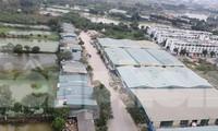 Hàng nghìn mét vuông đất tại Khu đô thị Cầu Bươu đang được xây dựng làm nhà xưởng để cho thuê