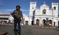 An ninh được thắt chặt tại các nhà thờ vừa xảy ra vụ đánh bom ở Sri Lanka. ảnh: RT