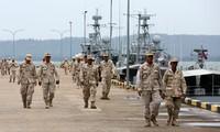 Lính hải quân Campuchia tại căn cứ quân sự Ream hôm 29/7 ảnh: Khmer Times