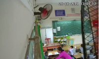 Camera ghi lại sự việc một giáo viên đánh học sinh lớp 2 ở TP HCM