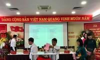 Bầu trực tiếp Bí thư tại Đại hội Đảng bộ Tổng Công ty Du lịch Hà Nội sáng 24/6 ảnh: minh tuấn