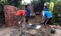 ĐVTN xây bể xử lý nước sinh hoạt cho người dân