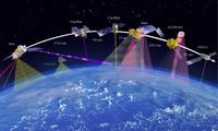 Mô phỏng mạng lưới vệ tinh quan sát Trái đất ảnh: Space