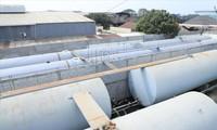 Hệ thống bồn chứa xăng của đường dây pha chế, sản xuất xăng giả